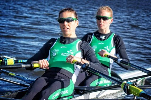 The Ireland lightweight women's double are set to compete on Monday.