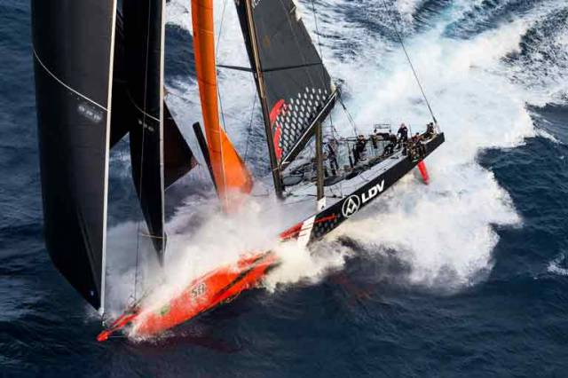 Act 1 of this race is drawing to its climax. LDV Comanche has rounded Tasman Island, 41nm from Hobart and expects to be here at 2100. Wild Oats XI is just two miles behind. This is still anyone's race!