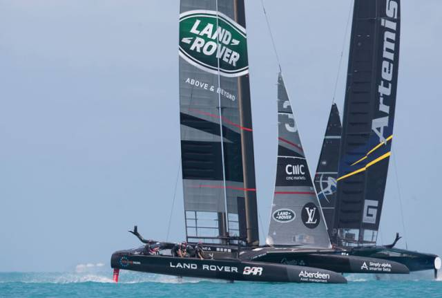 Day 4 - America's Cup Round Robin 2. Land Rover BAR vs. Artemis Racing