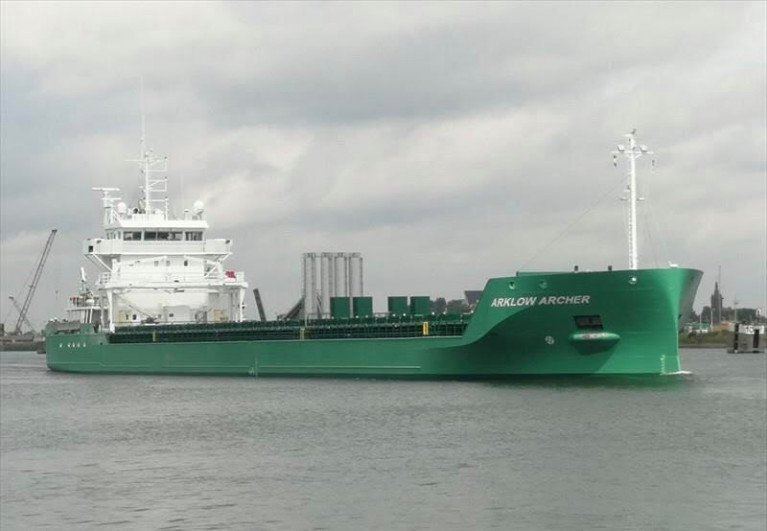 Ireland's newest cargsoship, Arklow Archer which made a first visit to Dublin Port this month having joined the Co. Wicklow shipowners fleet of almost 60 dry-cargo ships mostly operating in Europe and further overseas.