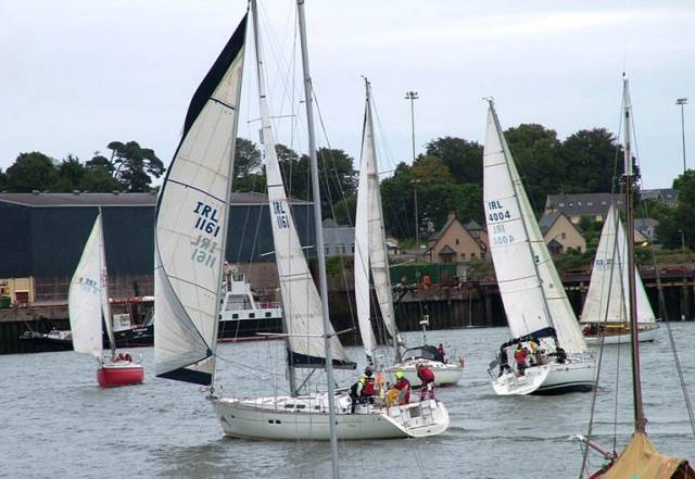White Sails sailing in Cork Harbour at Monkstown Bay Sailing Club