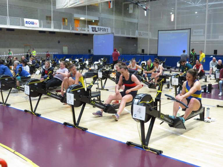 Health-booster: Action from the Irish Indoor Rowing Championships.