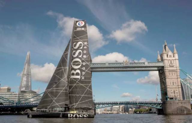 Hugo Boss at London's Tower Bridge last year