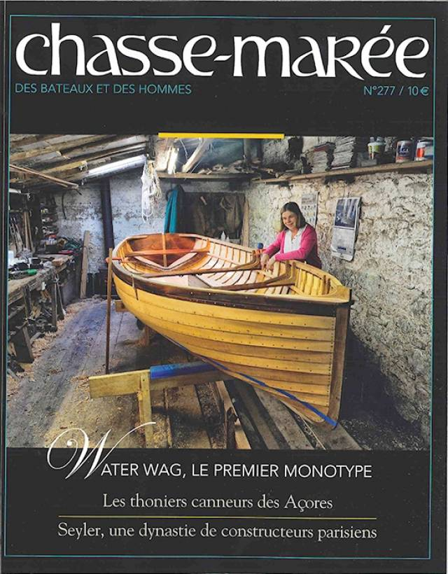 Le premier monotype - Cathy makes the cover of influential French Mag Chasse Maree