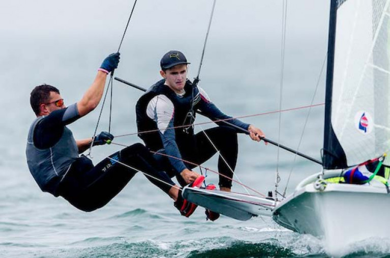 Sean Waddilove (left) and Robert Dickson were world championship race winners in geelong today