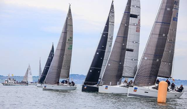 Light winds prevailed at Howth Yacht Club's ICRA National Championships in June
