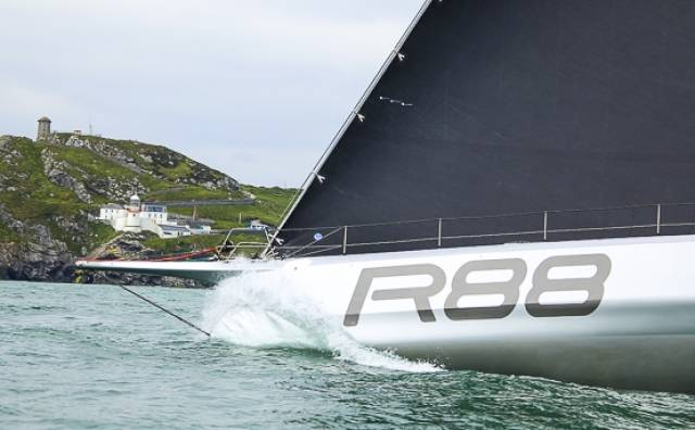 George David's world-famous maxi yacht Rambler 88 has completed a unique treble of Round Ireland wins