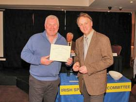 Jim Clohessy and ISFC chair Dr Robert Rosell at the committee's awards day on Friday 20 February