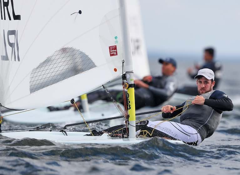 Finn Lynch competing in the first races of the European Championships in Poland