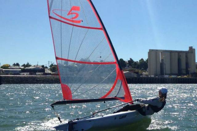 An Austrlian c5 Laser rig. New rigs for the dinghy are planned for this season by builder Laser Performance