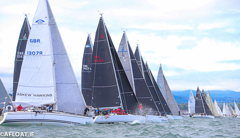 Yachts racing on Dublin Bay - a new solidarity regatta of all Dun Laoghaire yacht clubs has been announced for July 31st