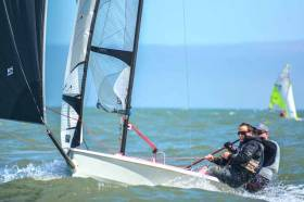 Howth Yacht Club's Neil Spain & Ross McDonald were second overall at the RS400 Easterns at Rush Sailing Club