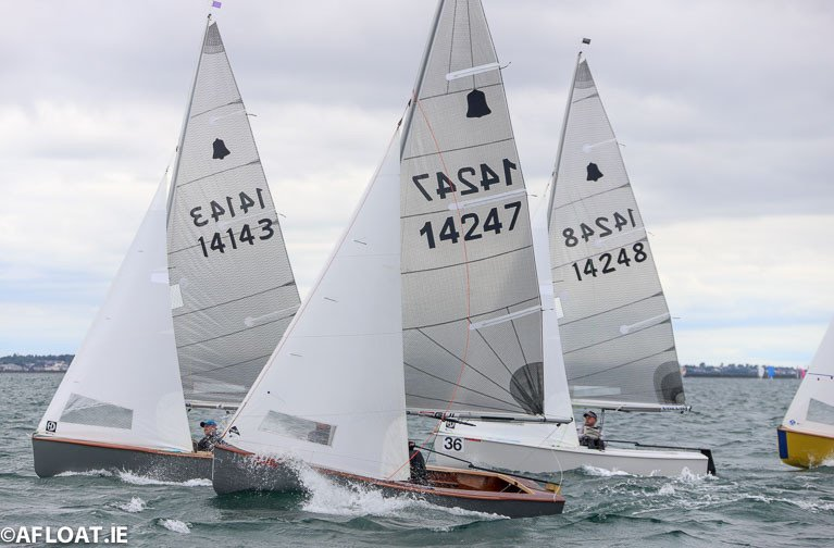 16 GP14s Line up for Volvo Dun Laoghaire Regatta