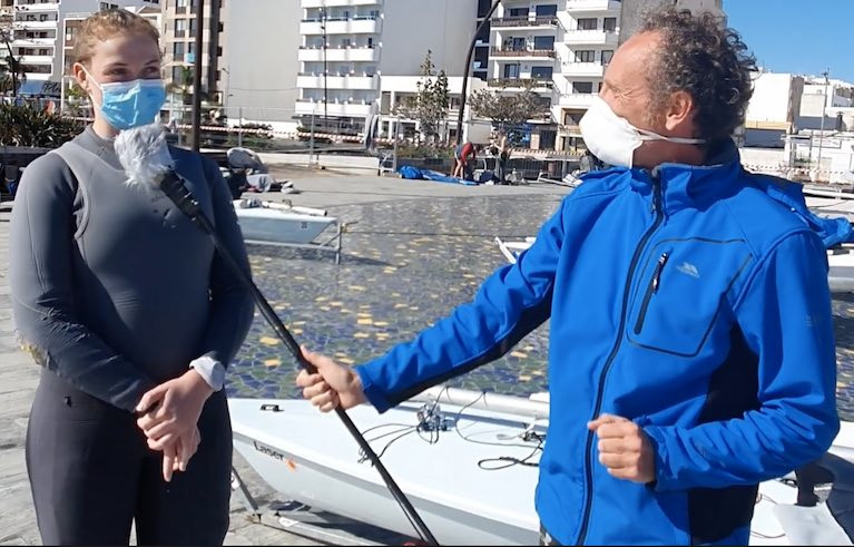 Howth ILCA 6 Sailor Eve McMahon Interviewed at Lanzarote Winter Series on Paris 2024 Ambitions