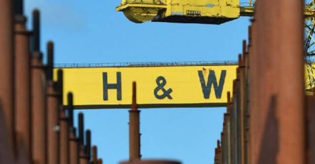 Harland & Wolff workers continue their protest at the Belfast shipyard regarding the future of the company.