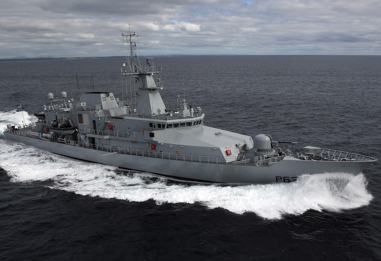 LÉ William Butler Yeats (P63) on patrol