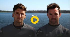 Olympic sailors Ryan Seaton and Matthew McGovern from Ballyholme Yacht Club