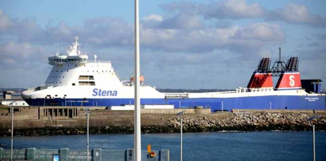 Stena Carrier arrived into Dun Laoghaire Harbour this morning
