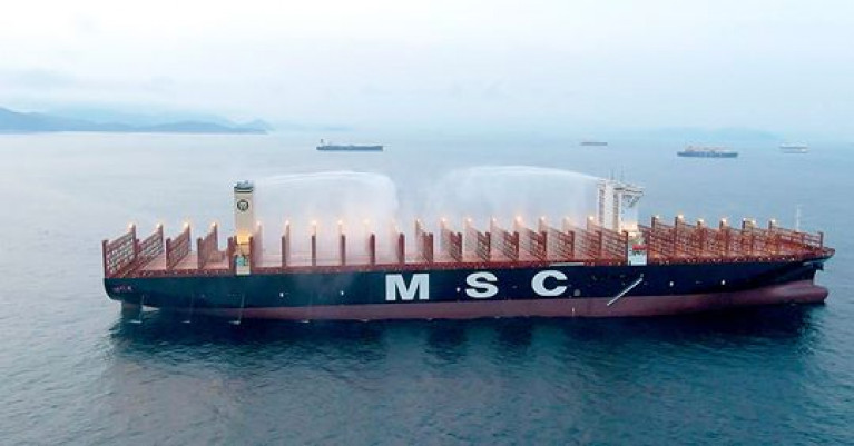 After successful implementation in selected countries, the container line (MSC) is now extending the programme to clients worldwide throughout 2020. Above AFLOAT adds is DNV GL's ground-breaking new class notation to mitigate fire risks on container ships had been awarded to MSC. The notation has been implemented on the largest container ships in the world, the 23,000+ TEU MSC Gülsün class with their also important lowest CO2 emissions per container carried by design.