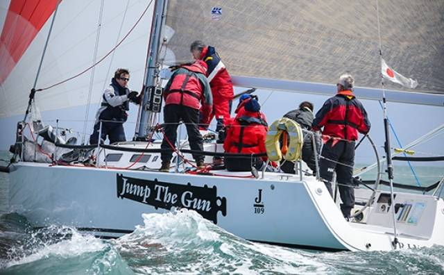 J109 Jump The Gun (M.Monaghan/J.Kelly) was the winner of today's DBSC Cruisers One ECHO race