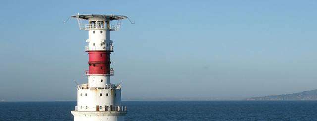 The Kish Light on Dublin Bay is the turning mark for the DMYC race on September 25th