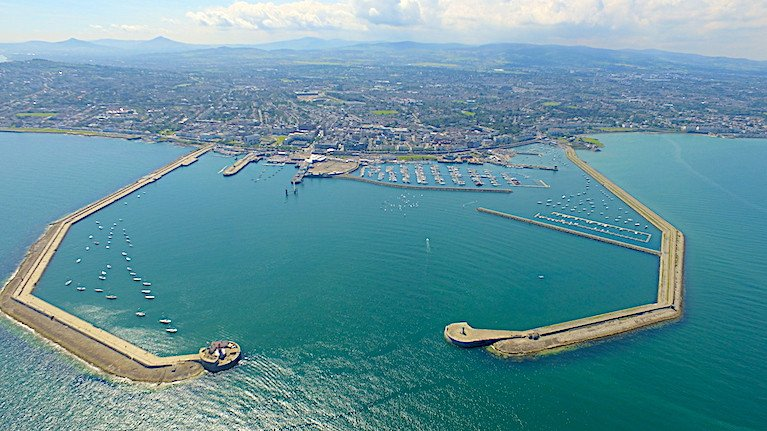 Dun Laoghaire's 250 acre harbour - a forthcoming report aims to set a new course for the 200-year-old structure. Now that it has taken control of the harbour, Council efforts are being made to regenerate one of the largest man-made harbours in the world