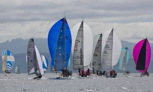 Silvers Marine Scottish Series racing yesterday at Tarbert