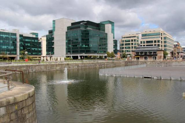 George's Dock between the IFSC and the CHQ Building is the site for the proposed €12 million white-water course
