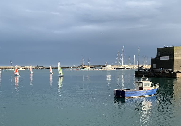 A body was recovered in the vicinity of Dun Laoghaire's Coal Harbour area  on Christmas Eve
