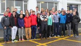 The 2016 INSS instructor group at the Sailing School's HQ at the West Pier in Dun Laoghaire