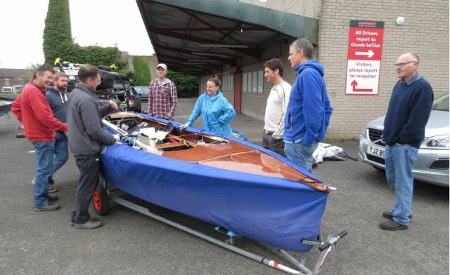 Irish GP14s returning from the Barbados World Championships arrived back in Belfast in early May. Three Irish containers were unpacked and It is reported all the boats are very much in one piece. Shane McCarthy's winning championship boat was one of the first out