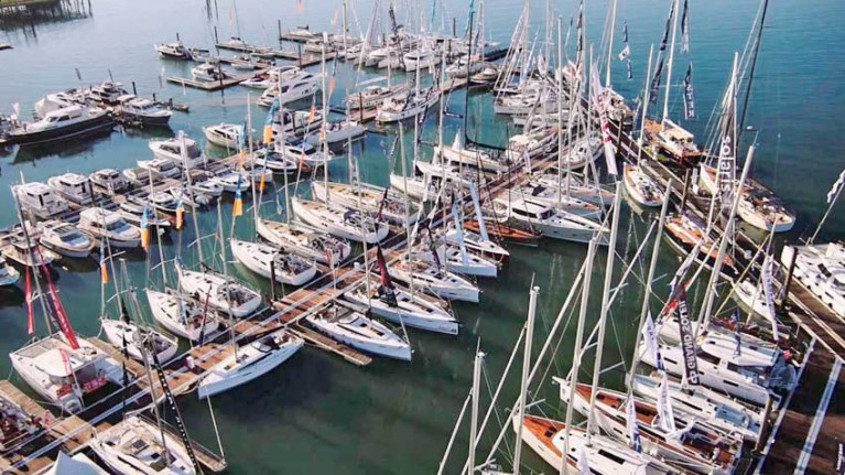 File image of vessels moored at a previous Southampton Boat Show
