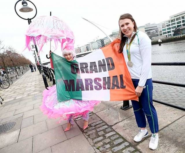 Annalise Murphy at the launch of the 2017 St Patrick's Festival in Dublin
