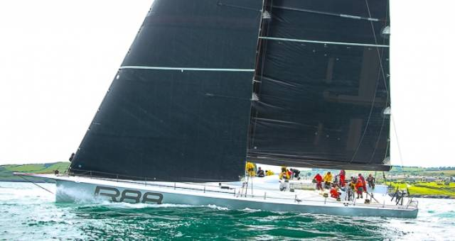 Rambler 88 finished the Round Ireland Race today to set a new monohull record