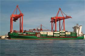 Elbetrader, one of ICG's containerships that operates for division EUCON on feeder services to and from Ireland to continental Europe