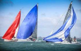 Breezy sailing for J109s at the 2017 DBSC Turkey Shoot Series on Dublin Bay