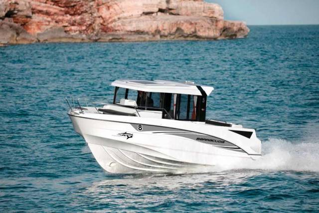 The Barracuda 8 is one of the more recent additions to Beneteau's sports fishing boat range