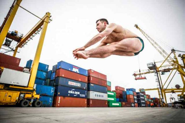 Dublin Port Sponsor Olympic Diver Ollie Dingley