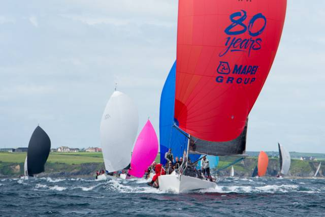Great racing in great conditions for the second day of the O'Leary Life Sovereign's Cup off Kinsale today