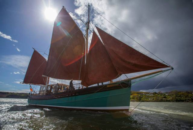 The sailing ketch Brian Ború is one of Sail Training Ireland's partner vessels