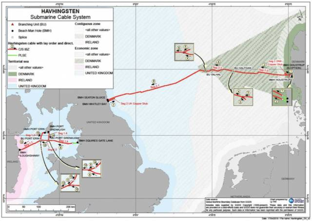 Fibre Optic Cable Laying In The Irish Sea This Weekend