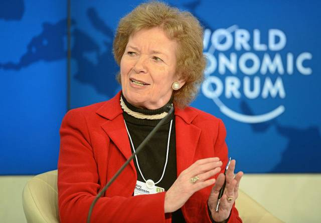 Ireland's seventh President Mary Robinson is expected to speak on the impact of climate change in Galway this June
