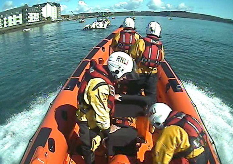Youghal's inshore lifeboat launches for the missing person search