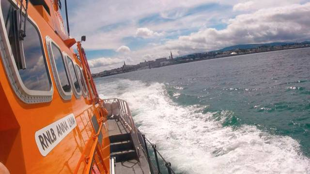 Dun Laoghaire RNLI's all-weather lifeboat Anna Livia. Dublin District Court was told it was one of two lifeboats that approached the sailboat in the shipping lane on 1 June 2017