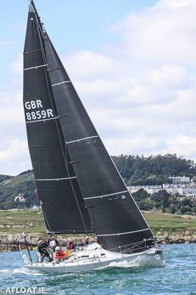 Andrew Hall's J125 Jackknife leads ISORA overall after Race 11 from Dun Laoghaire to Pwllheli on Saturday
