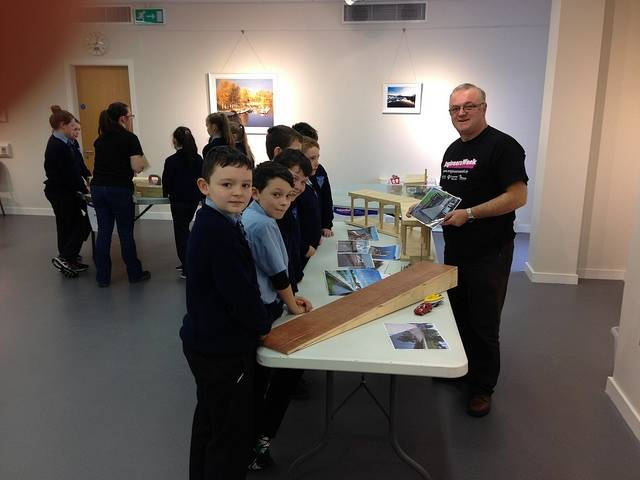 Pupils from Ederney PS at Waterways Ireland headquarters in Enniskillen for Engineers Week