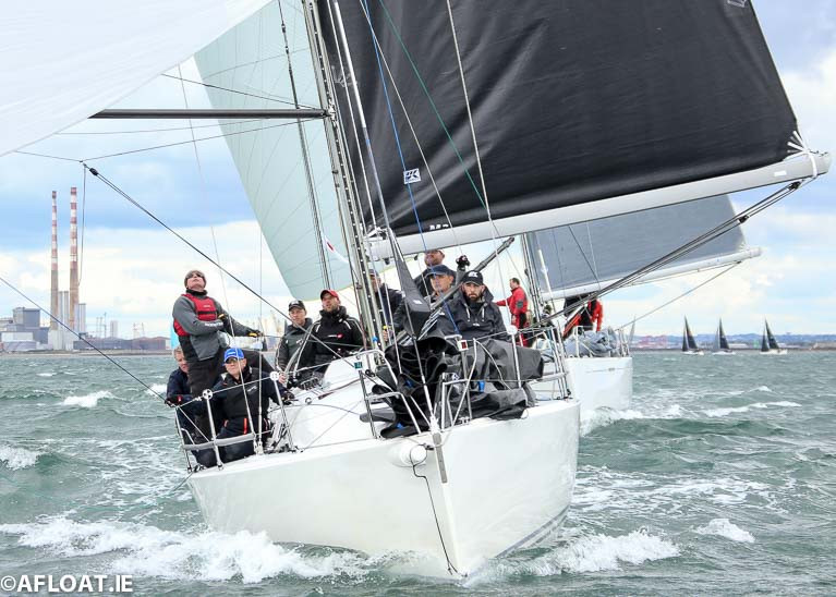 Richard Colwell and John Murphy's J109 Outrajeous J109 Outrajeous from Howth returns to Kinsale defend the Class IRC Class One Sovereign's Cup title