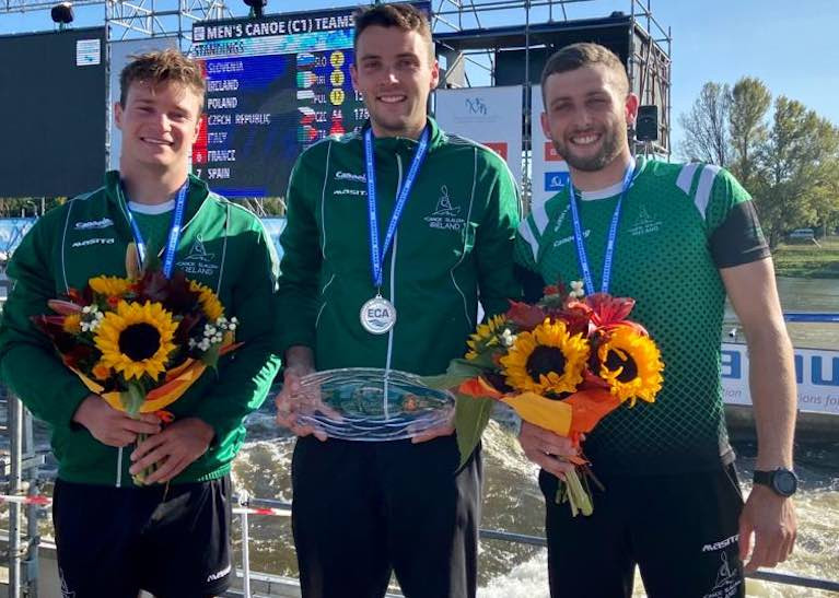 Irish Canoeing C1 Mens Team Win European Silver Medal