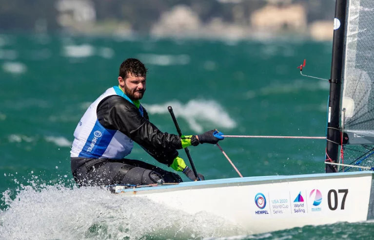 Oisin McClelland Holds Third In Finn Fleet As Light Wind Hampers Hempel World Cup Series In Miami