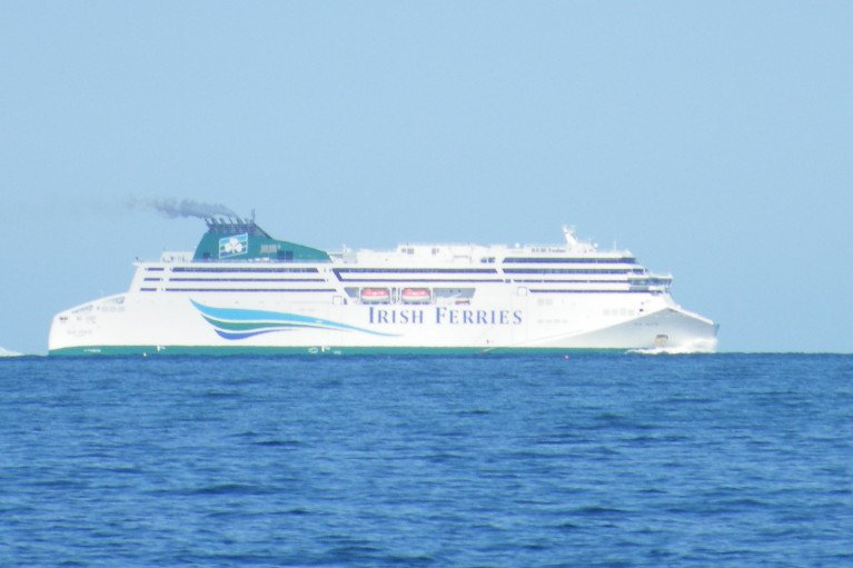 New measures introduced to deliver enhanced safety for passengers and crew on-board Irish Ferries. Above: cruiseferry W.B. Yeats captured in this AFLOAT photo having departed Dublin Port and when bound for Cherbourg, France.